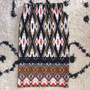 Anthropologie Maeve Tribal Pencil Pattern Skirt